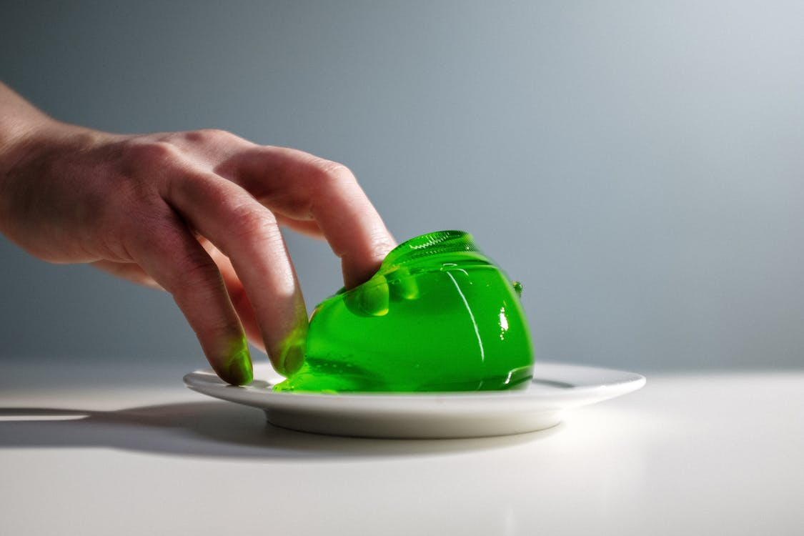 Photo Of Green Jelly On Plate