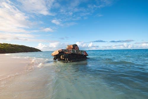 Photo Of Tank On Seashore
