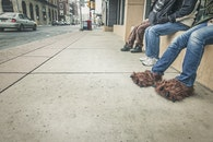 people, street, sidewalk