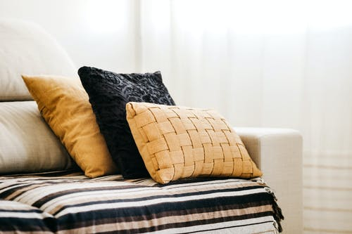 Photo Of Pillows On Sofa