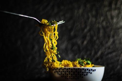 Photo Of Noodles On Fork
