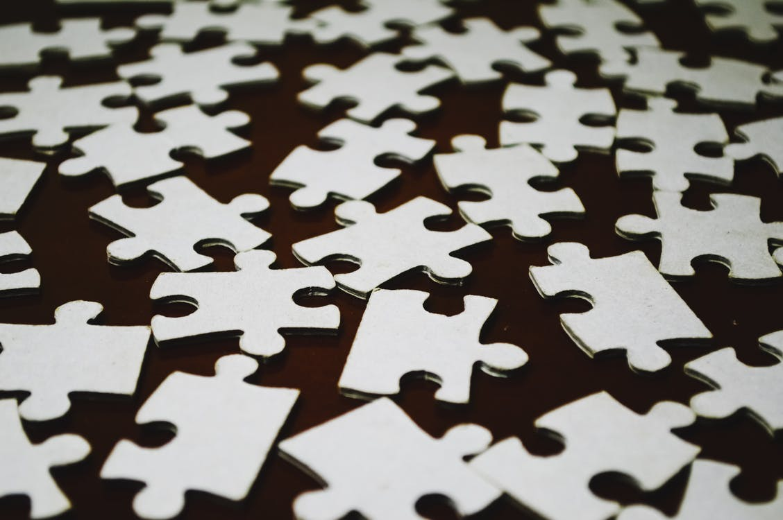 White and Black Puzzle Piece