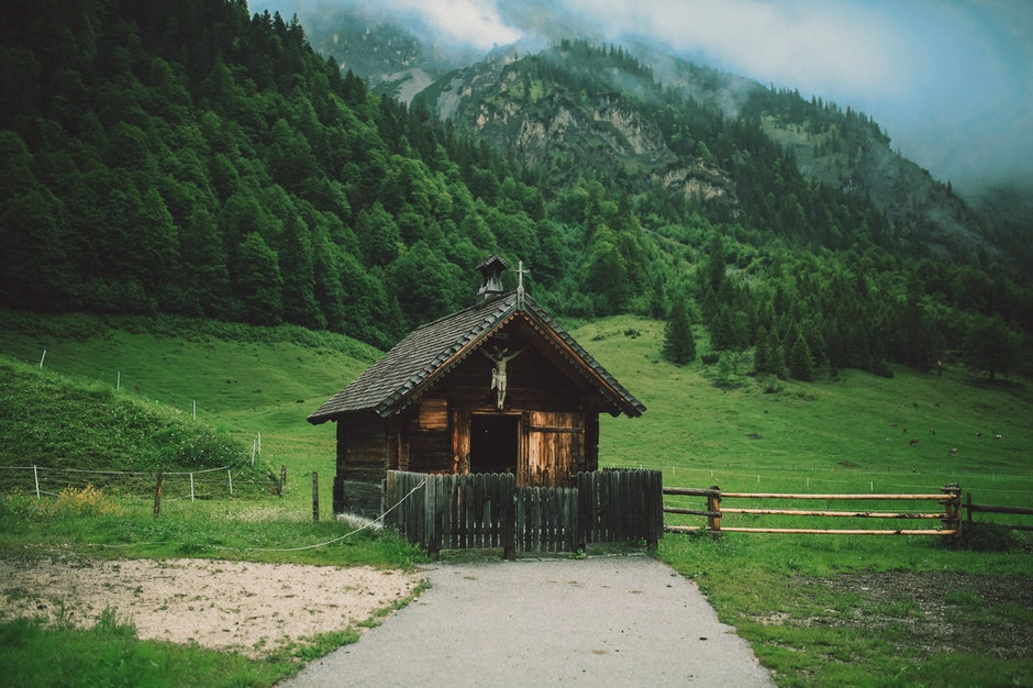 agriculture, barn, cabin