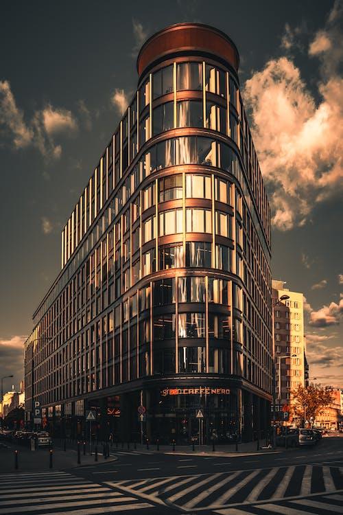 Photo of High-Rise Building on Street Corner