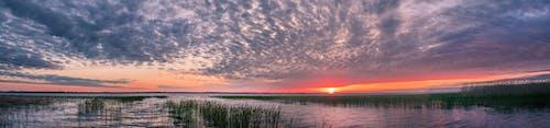 Free stock photo of panorama, sunset