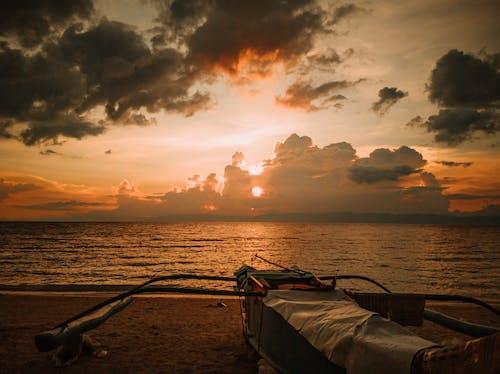 Free stock photo of Beach Beauty, beach sunset, Beautiful sunset, boat