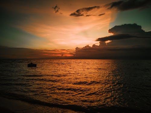 Free stock photo of beach sunset, beautiful rays, Beautiful sunset, boat