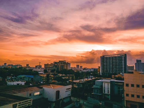 Free stock photo of Beautiful sunset, beauty of nature, buildings, colors
