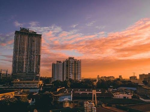 Free stock photo of beautiful sky, Beautiful sunset, beauty of nature, buildings
