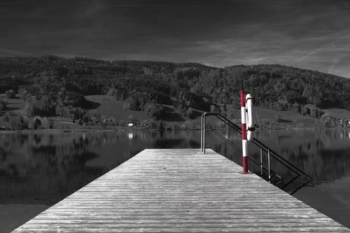 Dock and Red Pole