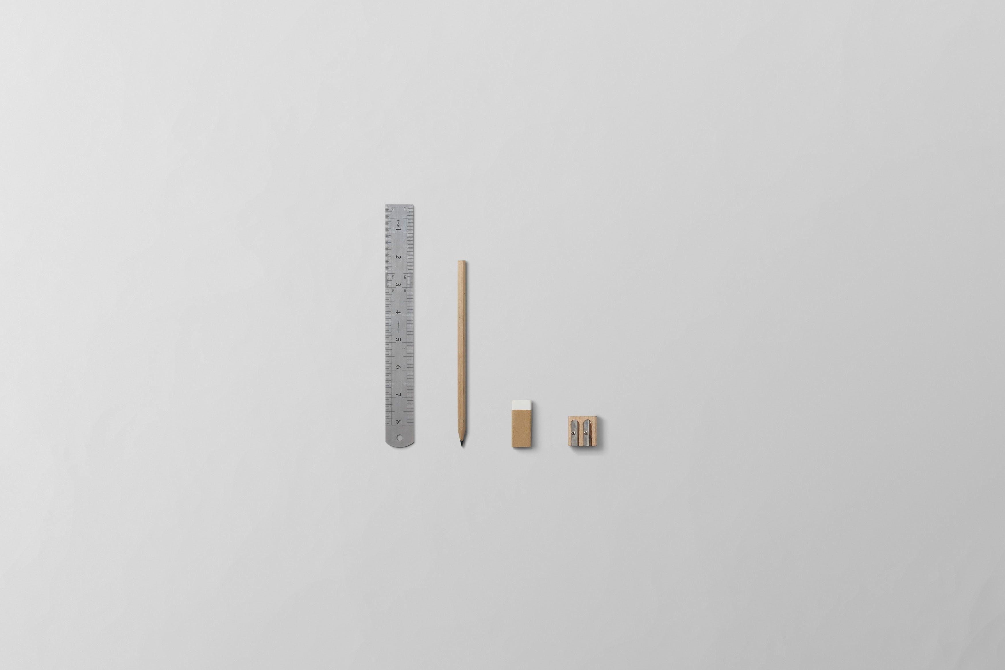 Free stock photo of ruler, architect, pencil, eraser