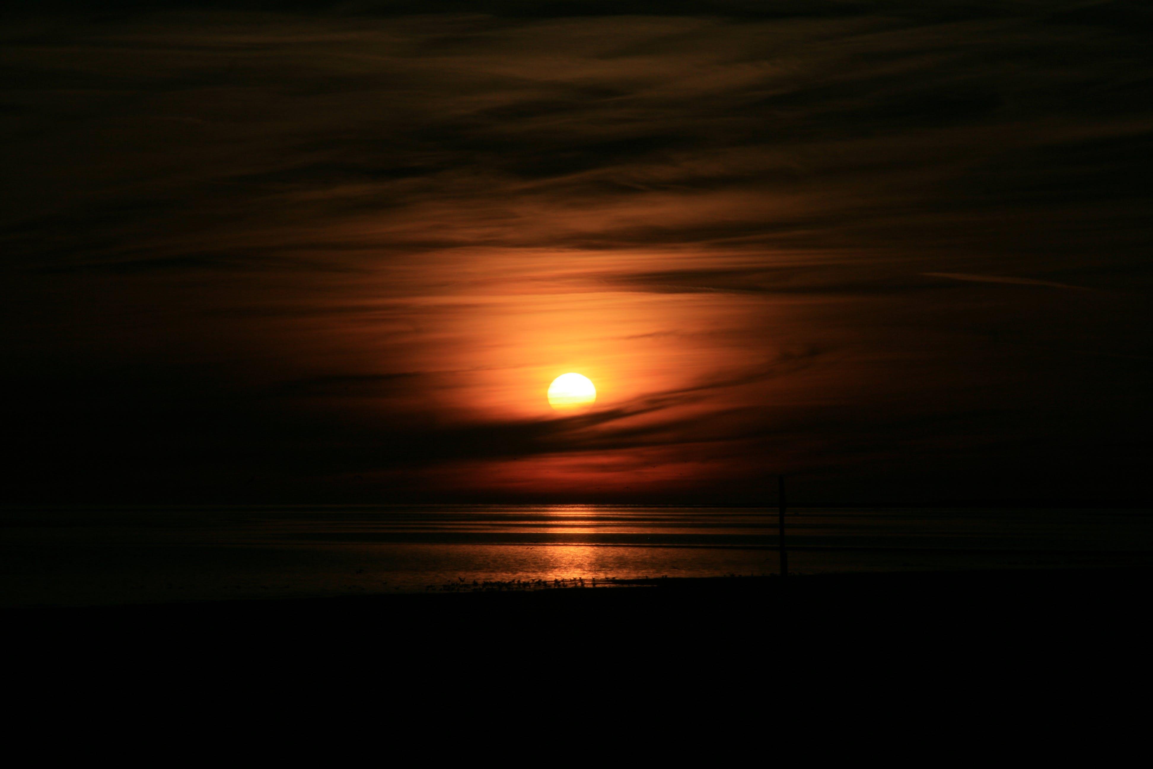Free stock photo of sea, sun, sunset