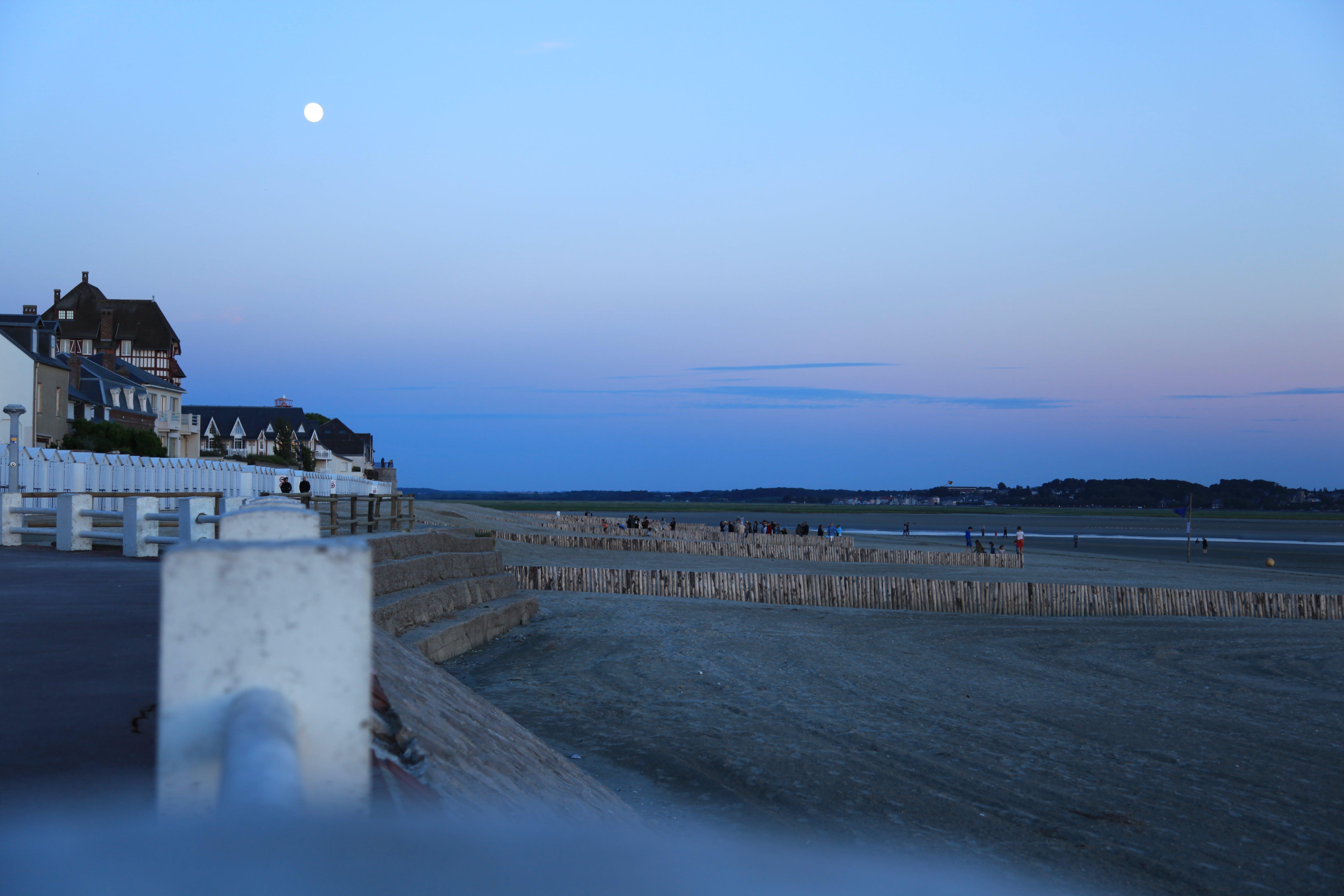 Free stock photo of beach, moon, night