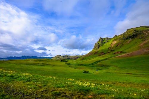 Green Field Beside Mountain