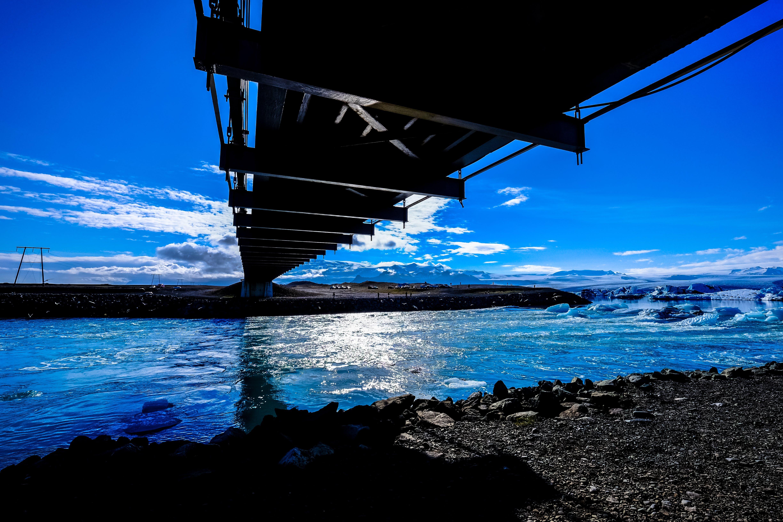 Kostenloses Stock Foto zu brücke, eis, himmel, landschaft