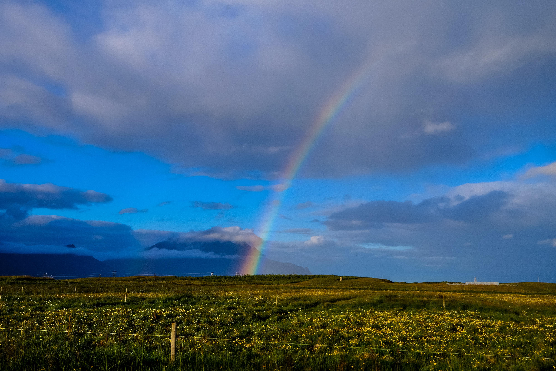 photography of rainbow during cloudy sky  u00b7 free stock photo