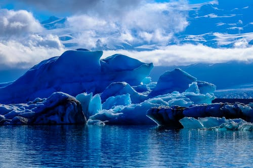 Darmowe zdjęcie z galerii z chmury, góra lodowa, krajobraz, latający