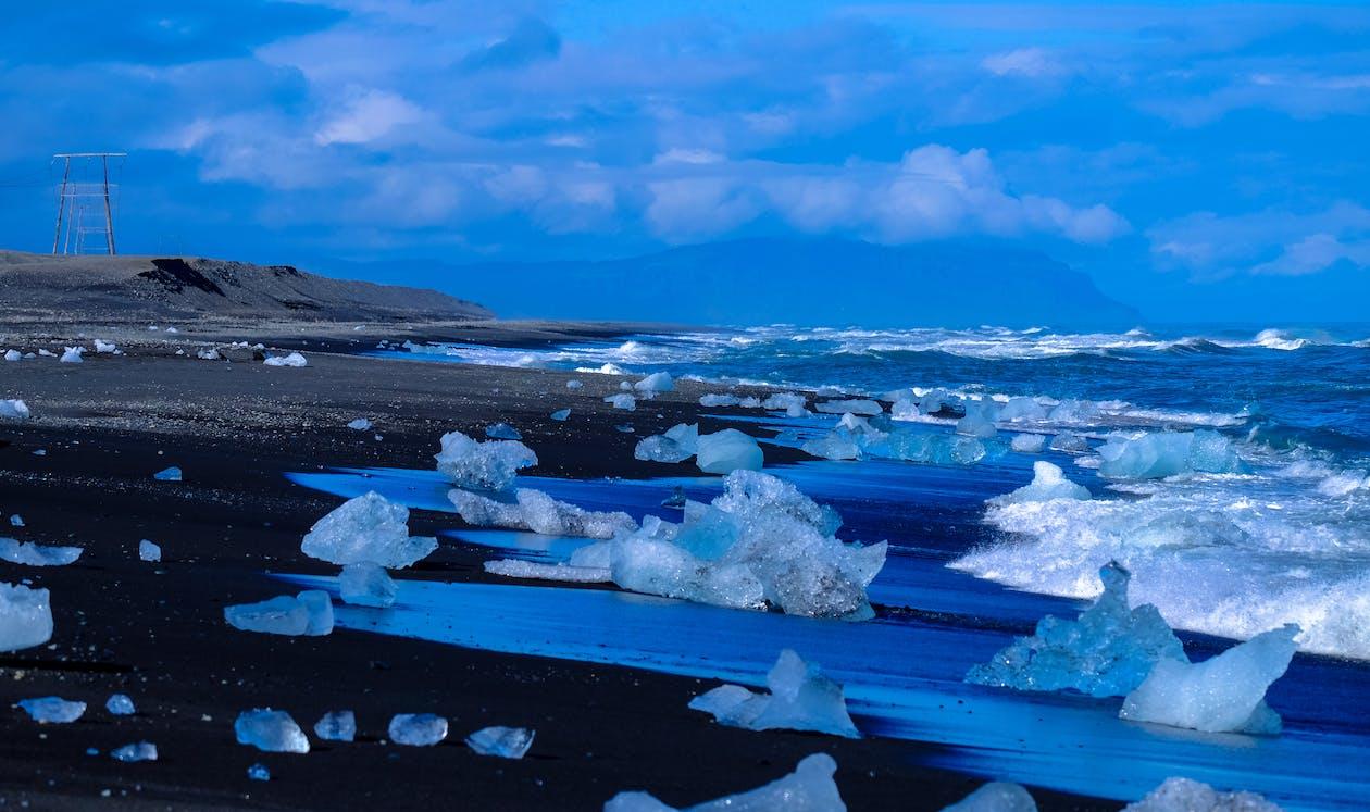 agua, cielo, congelado