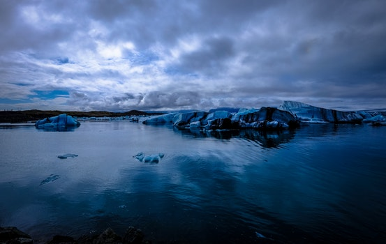 Free stock photo of cold, iceberg, snow, dawn