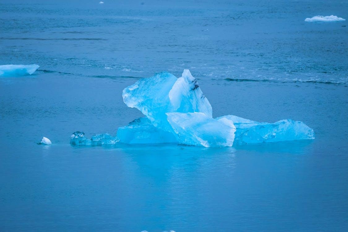 agua, congelado, cubierto de hielo