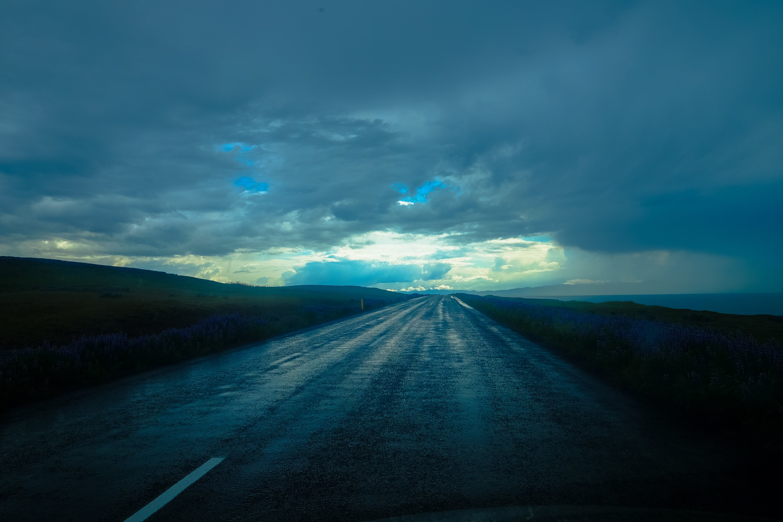 Foto d'estoc gratuïta de asfalt, autopista, camp d'herba, carretera
