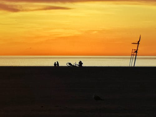 Free stock photo of amanecer, cielo, colorido, mar