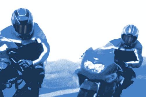Foto profissional grátis de motociclistas
