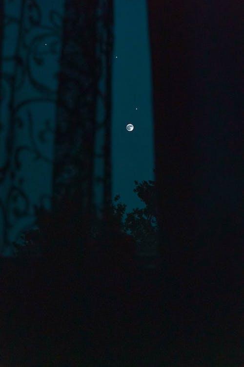 คลังภาพถ่ายฟรี ของ กลางคืน, คืนท้องฟ้า, จันทรา