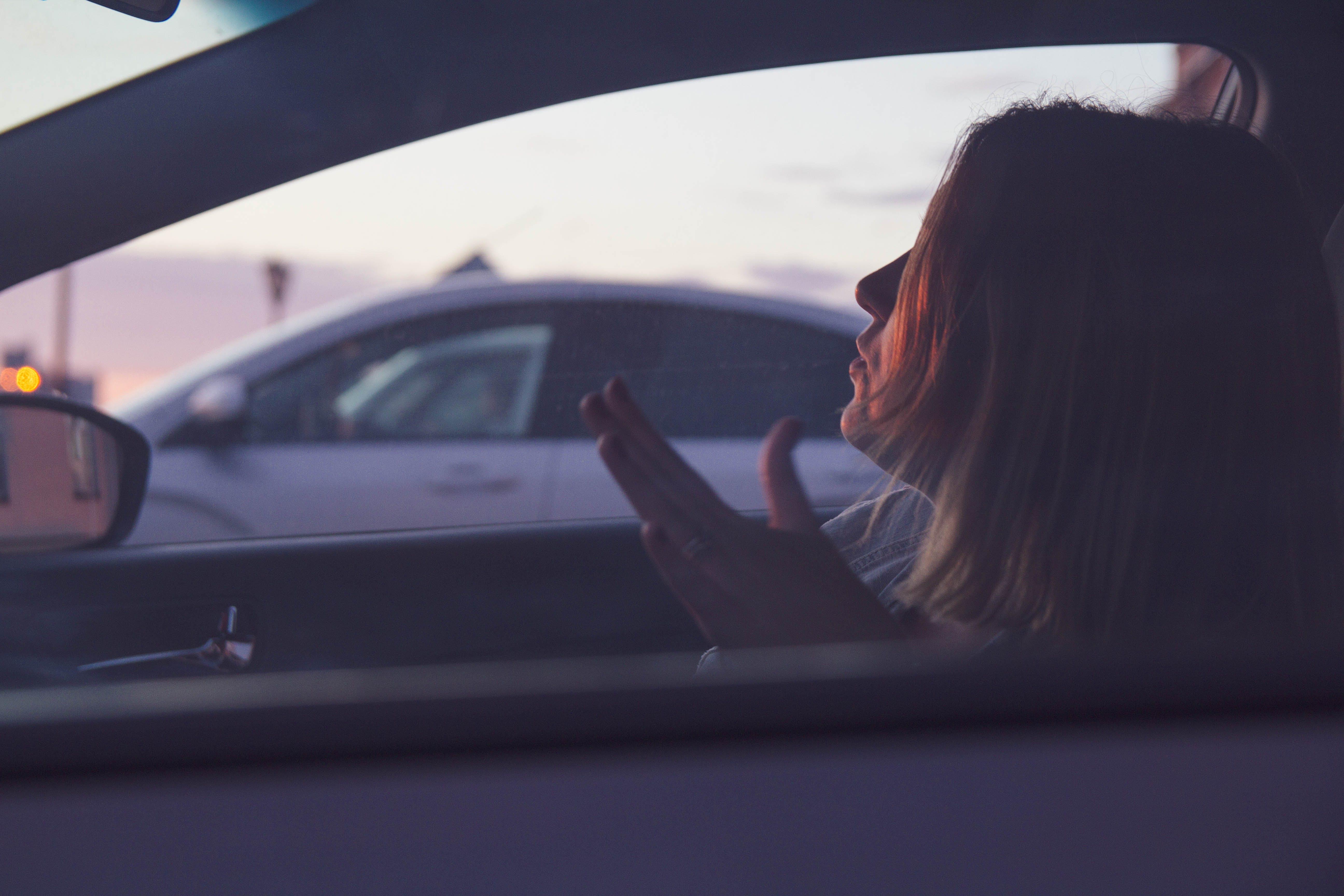 Free stock photo of car model, girl, red, sunset