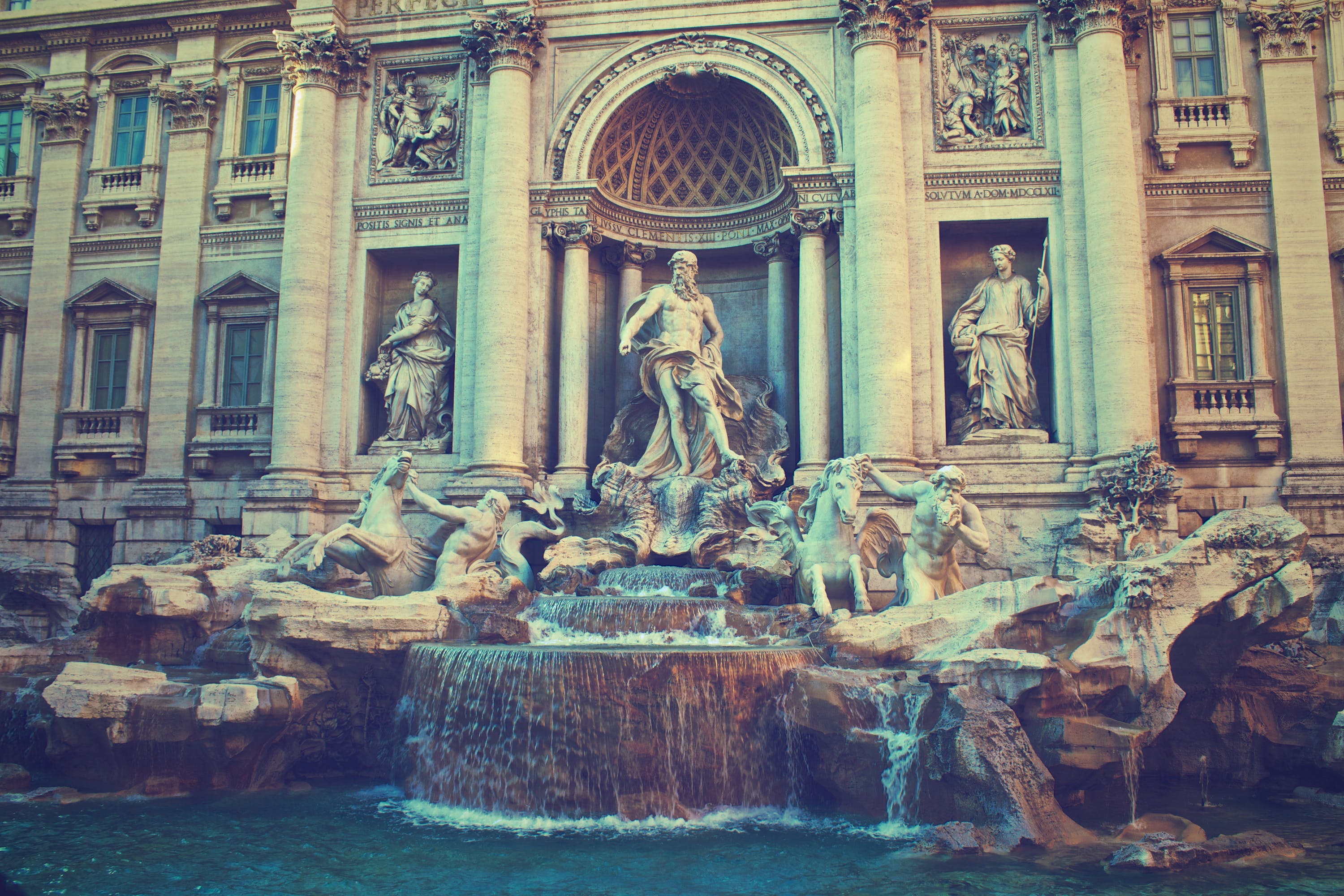 Free stock photo of historical, figures, fountain, statues