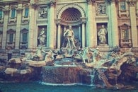 historical, figures, fountain