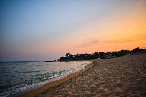 Free stock photo of beach, beach sand, beach sunset, bright colours