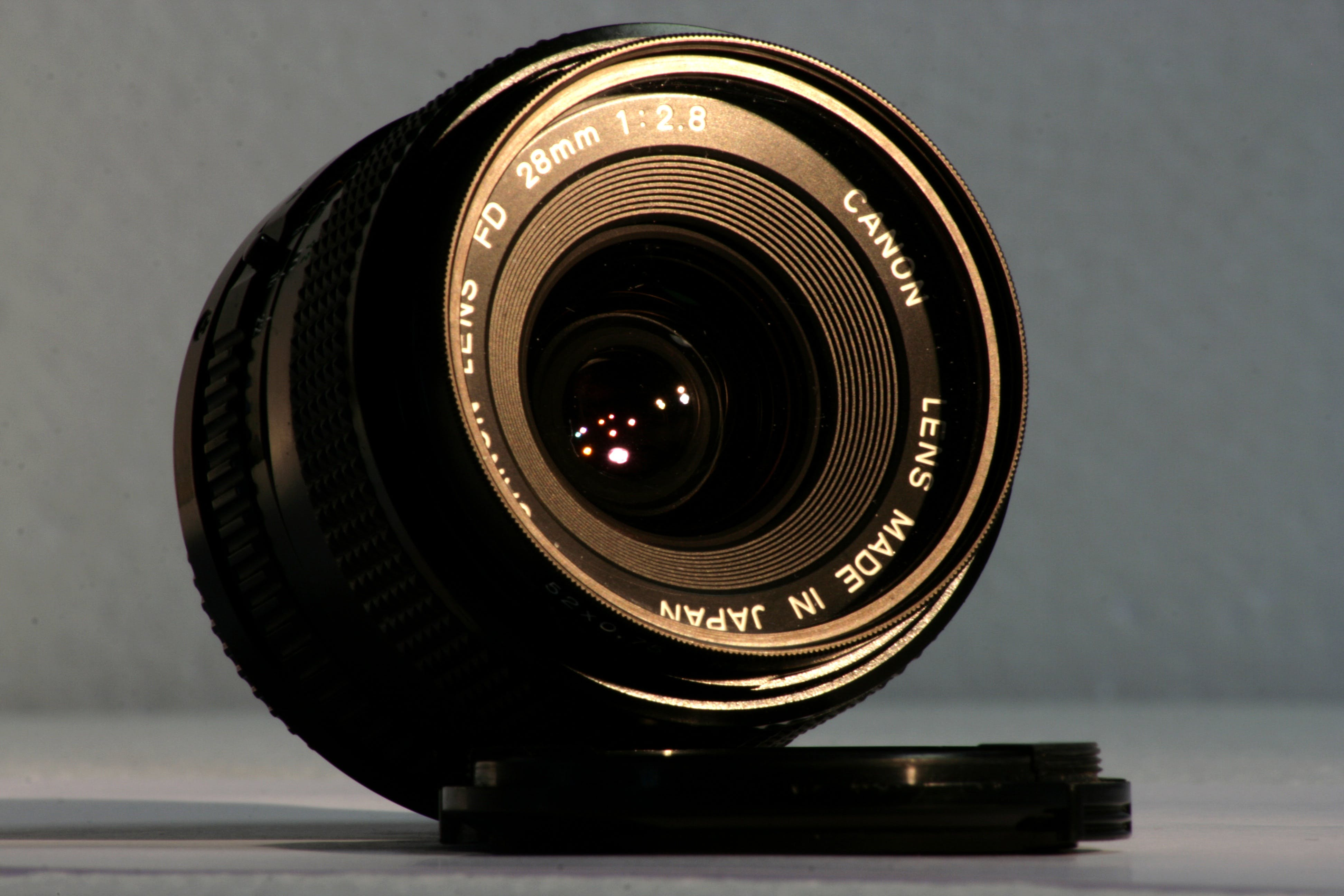 Základová fotografie zdarma na téma canon, fotografické vybavení, kryt objektivu, objektiv