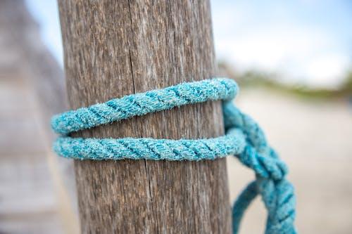 Free stock photo of beach, blue rope, cuerda
