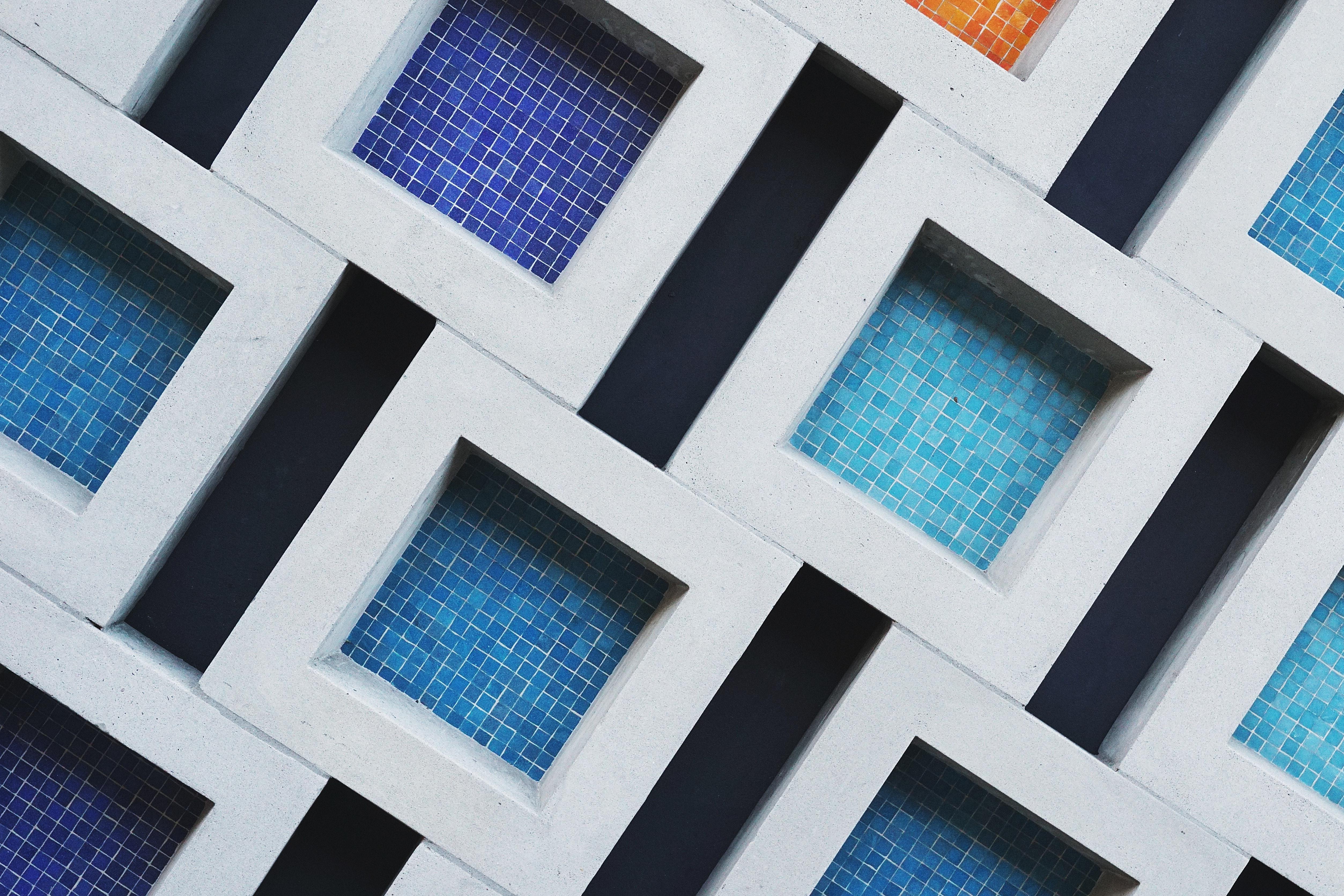 aesthetic wallpaper kotak kotak hitam putih