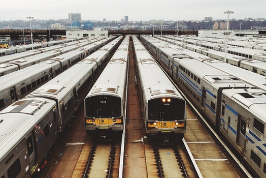 Trains Parked in the Terminal during Daytime