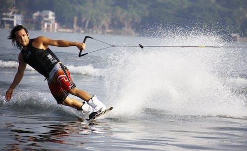 Základová fotografie zdarma na téma cákání, lyže, lyžování, moře