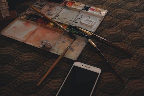 Free stock photo of art, artist, brush painting