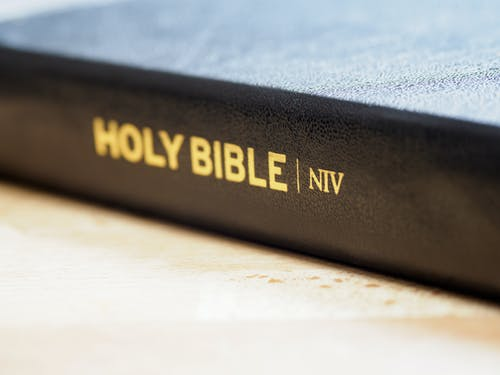 Close-Up Photo of Holy Bible