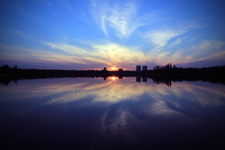 Kostenloses Stock Foto zu dämmerung, himmel, nacht, see