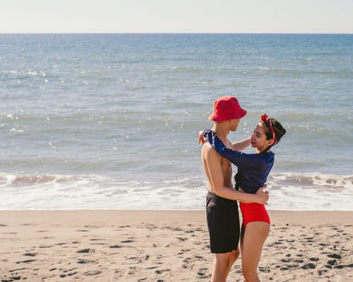 Free stock photo of beach, couple, dance, sweet
