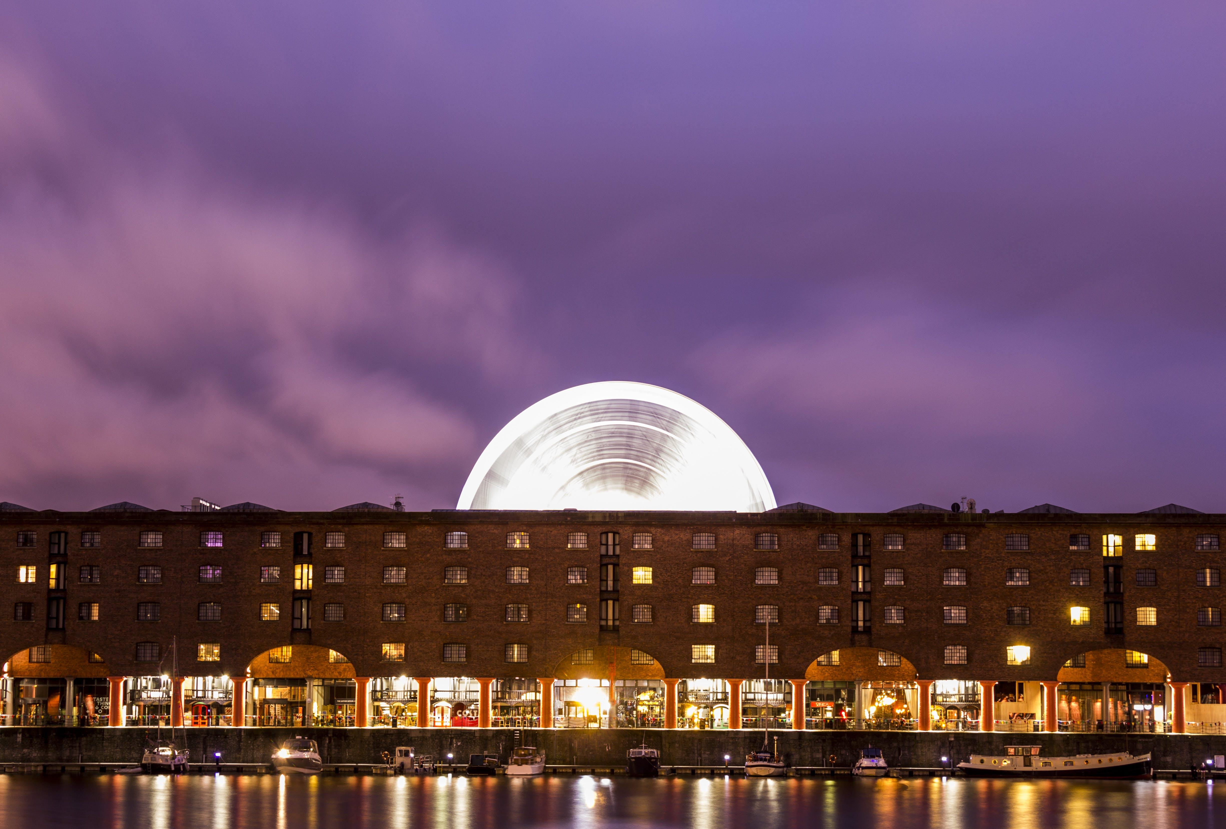 Kostenloses Stock Foto zu abend, albert dock, architektur, beleuchtet