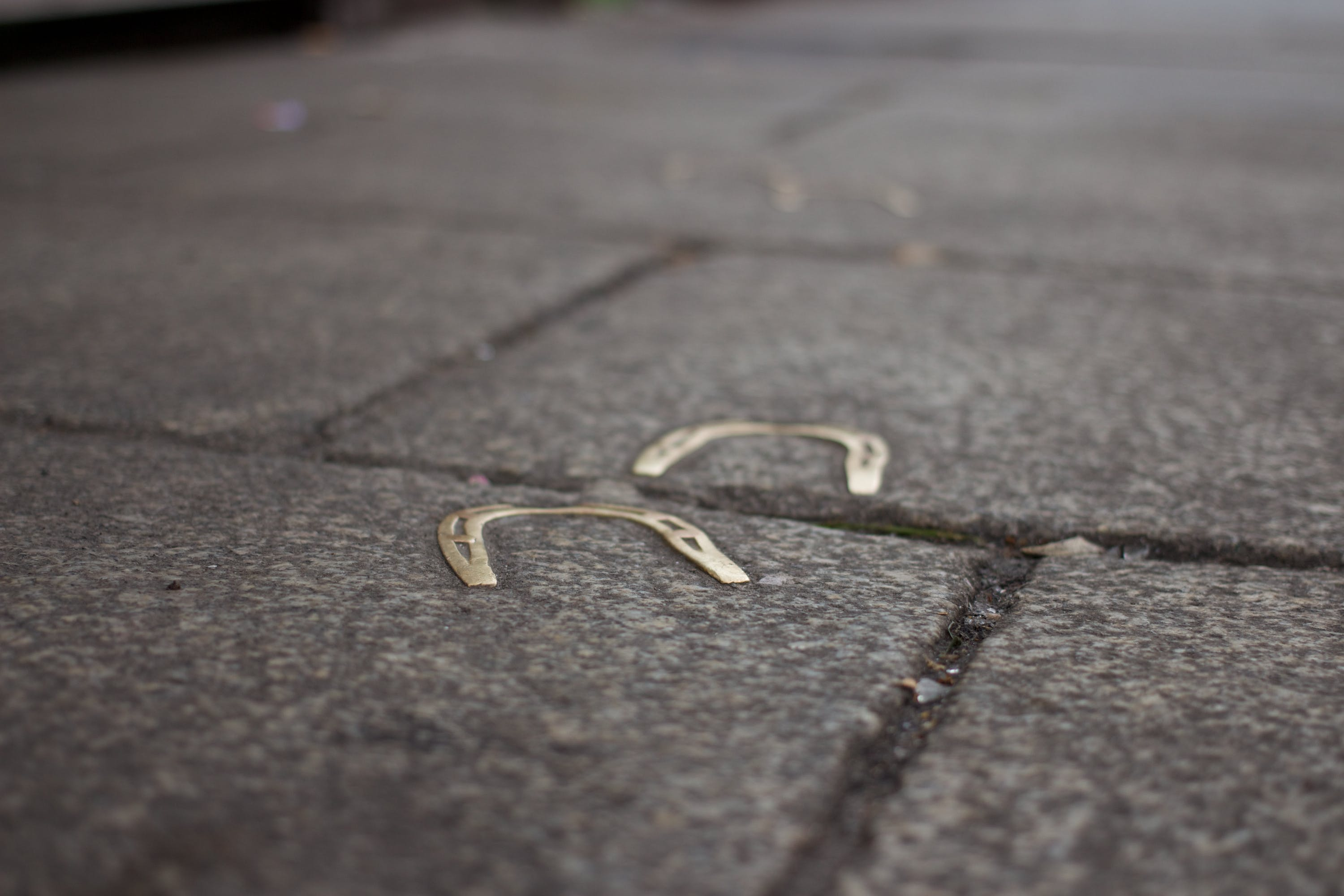 Free stock photo of sidewalk, luck, horseshoe