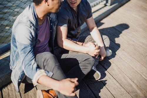 Gratis stockfoto met affectie, Afro-Amerikaanse man, gay