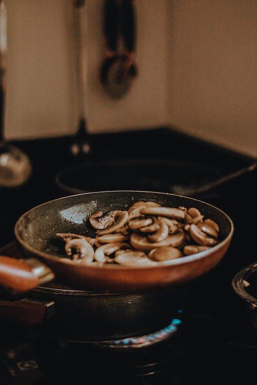 Photo of Mushroom Cooking in Frying Pan