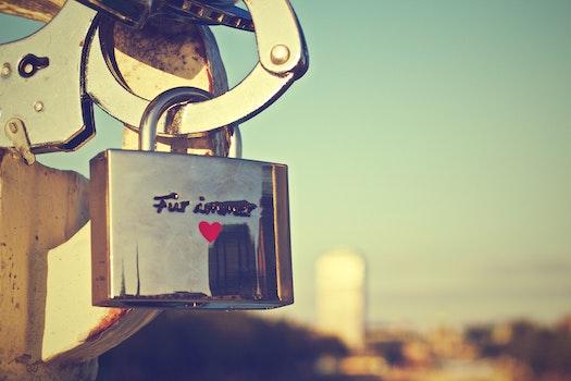 Free stock photo of german, love padlock