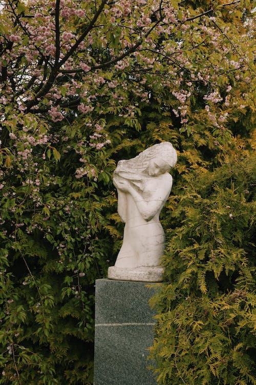 Statue Near Green Plants