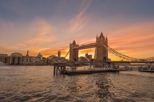 イギリス, ウォーターフロント, シティ, スカイラインの無料の写真素材