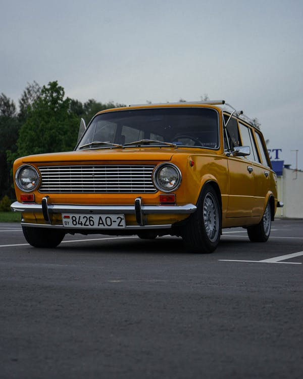 Photo Of Parked Yellow Car
