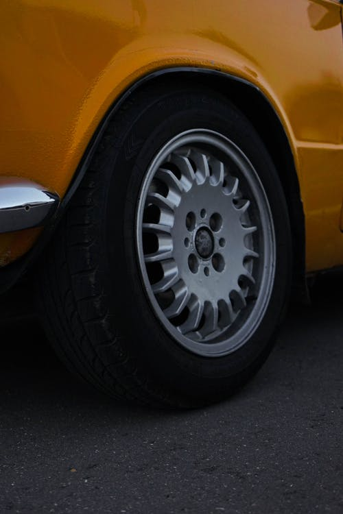 Close-Up Photo Of Car Rim